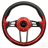 "13"" Aviator 4 Red/Black Steering Wheel 