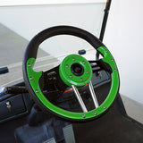 "13"" Aviator 4 Lime Green/Black Steering Wheel Installed 