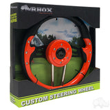 "13"" Aviator 4 Orange/Black Steering Wheel Packaging 