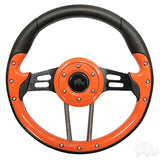 "13"" Aviator 4 Orange/Black Steering Wheel 