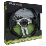 "13"" Aviator 5 Carbon Fiber/Brushed Aluminum Steering Wheel Packaging 