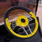"13"" Aviator 4 Yellow/Black Steering Wheel Installed 