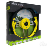 "13"" Aviator 4 Yellow/Black Steering Wheel Packaging 