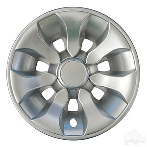 "Silver 8"" Driver Wheel Cover 