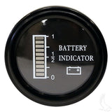 36V Round Digital Charge Meter Front | Cart Parts Direct