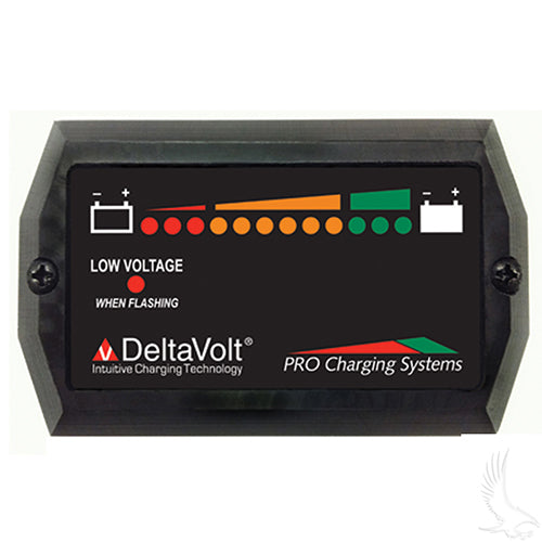 48V Dual Pro Horizontal Charge Meter w/ Mounting Tabs | Cart Parts Direct