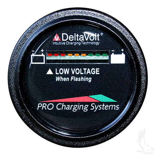 36V Dual Pro Round Battery Fuel Gauge | Cart Parts Direct