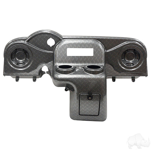 Diamond Plate Deluxe Dash w/ Radio Cutout and Speaker Indentations | Cart Parts Direct