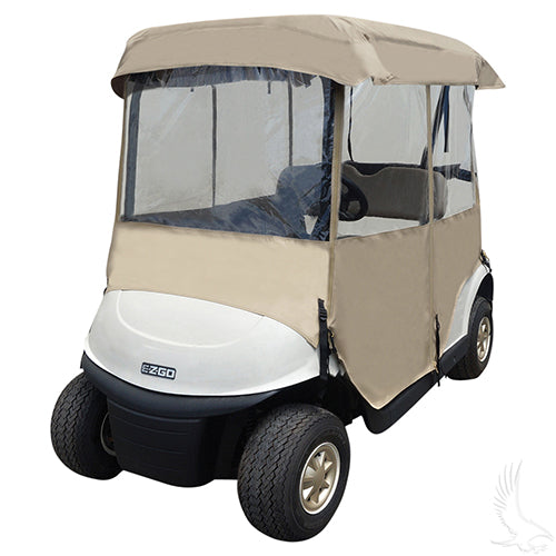 Deluxe Tan Four Sided Enclosure | Cart Parts Direct