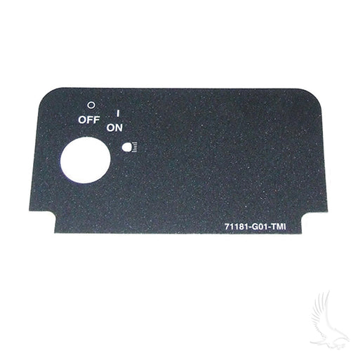 Key Switch Decal w/ On & Lights | Cart Parts Direct