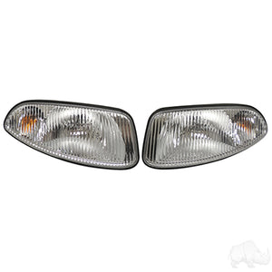 Clear Factory Style Headlights w/ Bezels | Cart Parts Direct