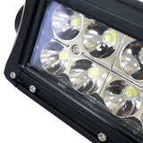 "21 1/2"" 12V-24V 120W 7800 Lumen Combination Flood Light/Spotlight LED Light Bar Lens Detail 