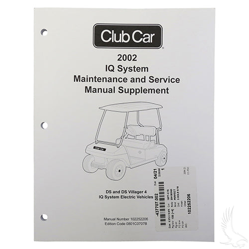 Maintenance & Service Supplemental Manual | Cart Parts Direct