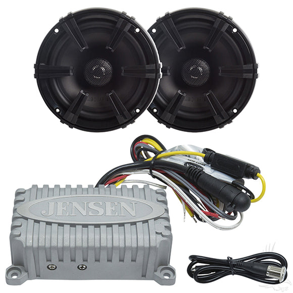 Bluetooth Audio Package w/ Jensen Amplifier and Polk Audio Speakers | Cart Parts Direct