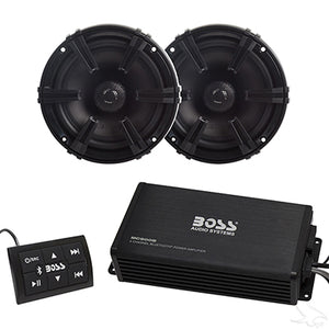Bluetooth Audio Package w/ Boss Amplifier and Polk Audio Speakers | Cart Parts Direct