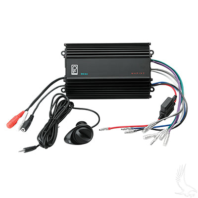 Poly-Planar 4 Channel, Water Resistant, Dash Mount Amplifier | Cart Parts Direct