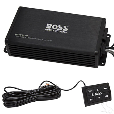 Boss 4 Channel, 500 Watt Marine Grade Bluetooth Amplifier | Cart Parts Direct