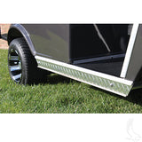 Diamond Plate Rocker Panel Insert Set Installed | Cart Parts Direct
