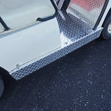 Diamond Plate Rocker Panel Set Installed | Cart Parts Direct