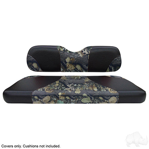 Sport Black/Camouflage Seat Cover Set | Cart Parts Direct
