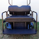Black RHOX 400 Series Rhino Rear Seat Kit | Cart Parts Direct