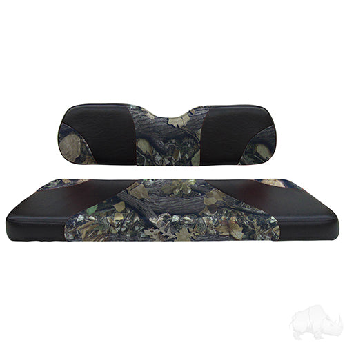 Sport Black/Camouflage RHOX 400 Series Rhino Aluminum Rear Seat Kit | Cart Parts Direct