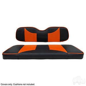 Rally Black/Orange Super Saver Seat Cover Set | Cart Parts Direct