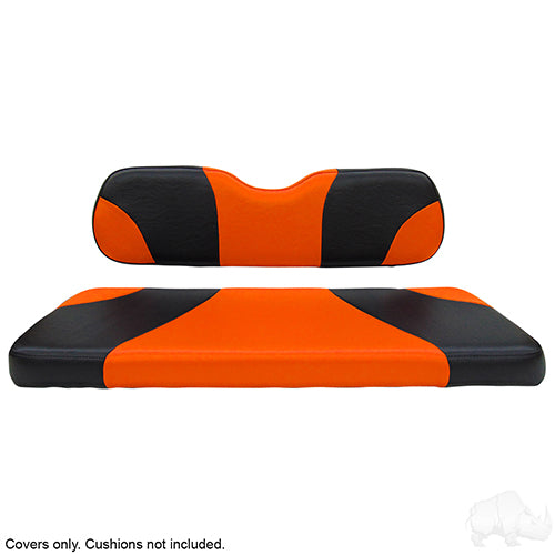 Sport Black/Orange Super Saver Seat Cover Set | Cart Parts Direct