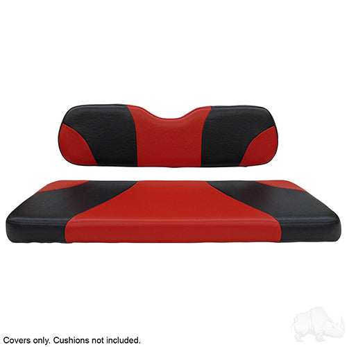 Sport Black/Red Super Saver Seat Cover Set | Cart Parts Direct