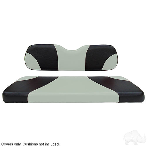 Sport Black/Silver Super Saver Seat Cover Set | Cart Parts Direct