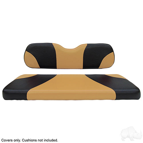 Sport Black/Tan Super Saver Seat Cover Set | Cart Parts Direct