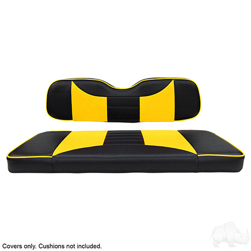 Rally Black/Yellow Super Saver Seat Cover Set | Cart Parts Direct