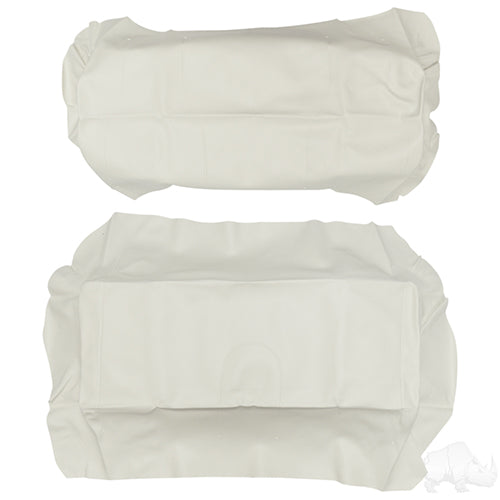 White Super Saver Flip Seat Cover Set | Cart Parts Direct