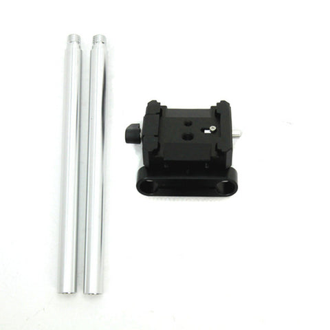 "Picture of QB-15 Base Mount Only with 8"" 15mm extension rods for QV-1 QV-1 M"