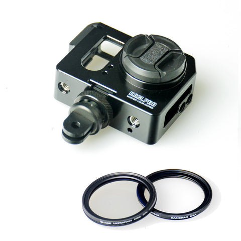 Picture of Kamerar Pico Cage with Blade Thin Premium UV & CPL Filters for GoPro  Hero Camera