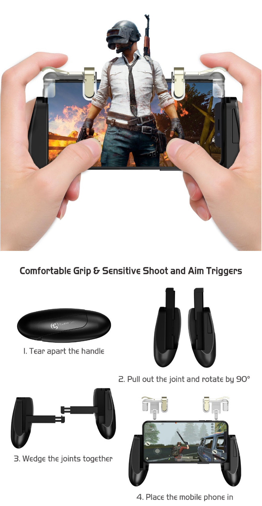 PUBG mobile gamepad with trigger