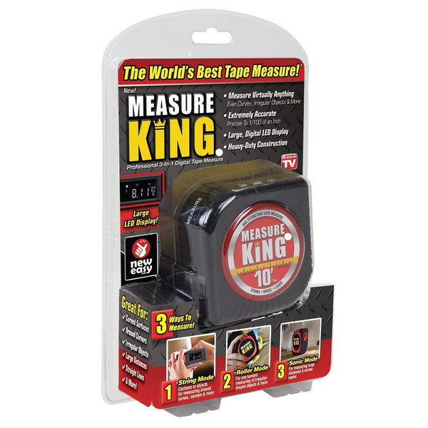 Measure King 3-in-1 Digital Tape Measure String Mode Sonic Mode and Roller Mode - gadgetbucketindia