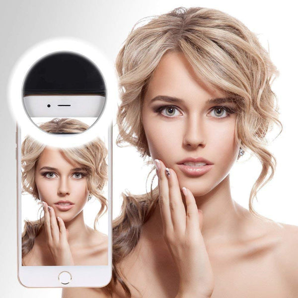 Portable Sockproof Selfie Beauty LED Ring Light for Tablets Smartphones etc (Multi Color)