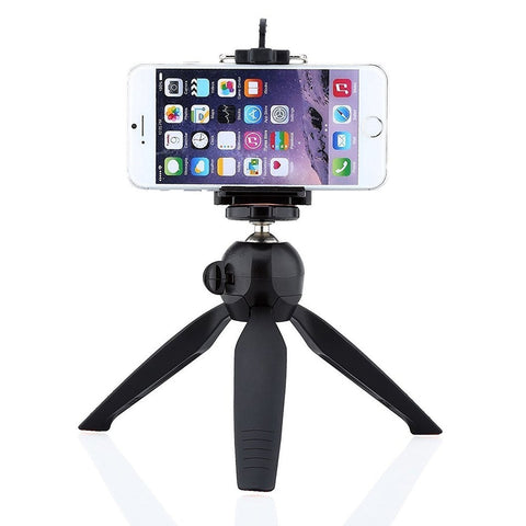 360 Degree Mini Tripod Universal Mount & Phone Holder Tripod Stand Compatible with All Mobile Phones and Digital Camera (Random Color) - gadgetbucketindia