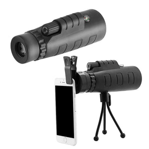Mobile Camera Lens hd Monocular Telescope with Mini Tripod and Mobile Camera Clip for All Mobile Phones (Panda 40X60) - gadgetbucketindia