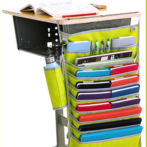 Multi functional Adjustable Table Desk Side Hanging Storage Bag for Books-Newspaper-Magazine-Stationary Multicolour - gadgetbucketindia