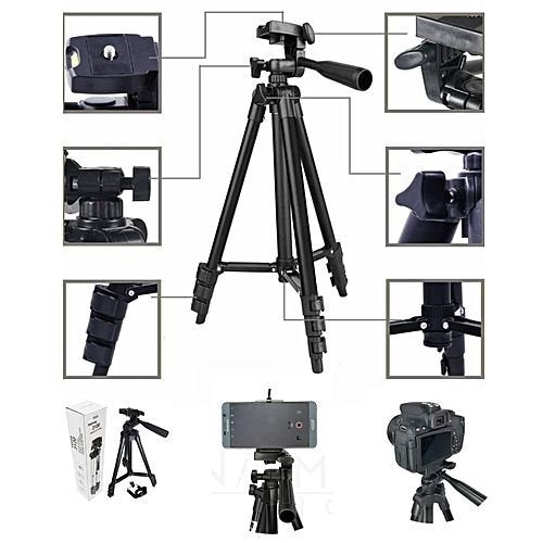 UnTech 3120 Tripod with 3-Way Head Tripod for Nikon D7100 D90 D3100 for DSLR Cameras and Mobile Phones Videography & Photography