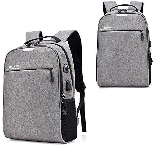 Nylon Laptop Bags with Set-in Charging Cable Lightweight Durable Water-Resistant - gadgetbucketindia