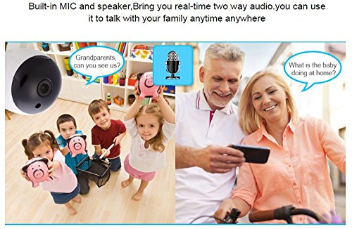 HD 720P Mini WiFi IP Camera Wireless P2P Security Surveillance Camera Night Vision IR Baby Monitor Motion Detection Alarm - gadgetbucketindia