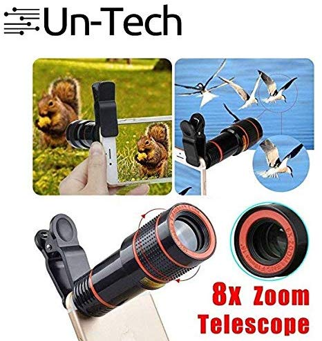 8X Mobile Lens Blur Background Effect Telescope HD Lens Kit with DSLR Adjustable Focus HD Pictures for All Smartphones - gadgetbucketindia