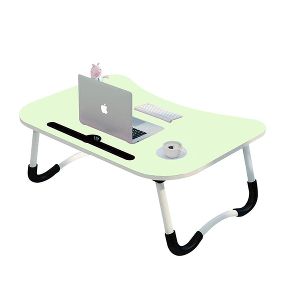 Used Condition Un-Tech Multi-Purpose Laptop Table with Dock Stand/Study Table/Bed Table/Foldable and Portable/Ergonomic & Rounded Edges/Non-Slip Legs/Engineered Wood