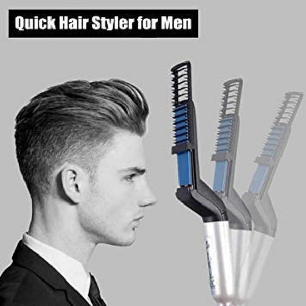 GadgetBucket Quick Men Beard Hair Straightener-Black - gadgetbucketindia