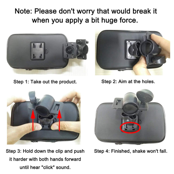 Universal Bike Bicycle Phone Holder Base Waterproof Case Cover Bag Handlebar Cycling Mount (Up to 6 Inch) - gadgetbucketindia