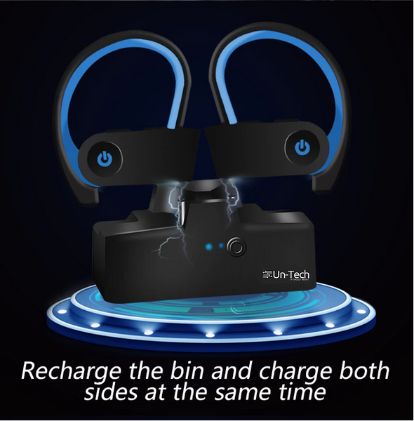 TWS Bluetooth Earphones 5.0 Plug Type True Wireless Sports Bluetooth Headset with Charging Bay Noise Cancelling Headphones - gadgetbucketindia
