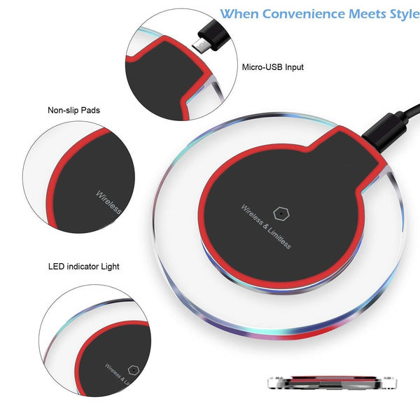 Fast Wireless Charger for iPhone XR,XS Max,X,Samsung Galaxy Note 9,8 S9 S8 Plus,All Qi-Enabled Smartphones (for Fast Charging Use only Certified 1-2Amp Charging Dock/Adapter) - gadgetbucketindia
